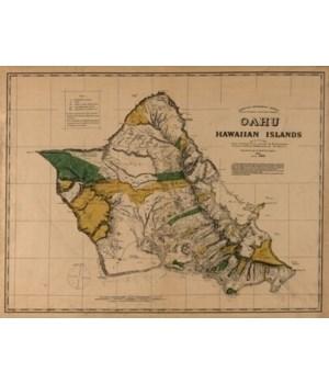Oahu, Hawaii - (1881) - PaFramic Map