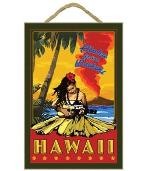 Waikiki, Hawaii - Lantern Press 7x10 Ori