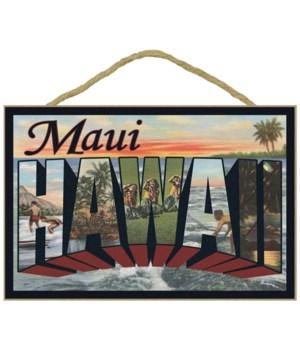 Maui, Hawaii - Large Letter Scenes