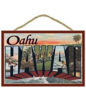 Oahu, Hawaii - Large Letter Scenes