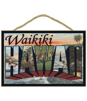 Waikiki, Hawaii - Large Letter Scenes