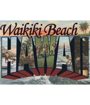 Waikiki Beach, Hawaii - Tropical Collage