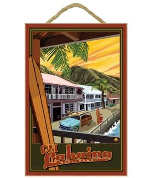 Lahaina, Hawaii - Lantern Press 7x10 Ori