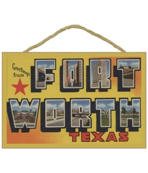 Fort Worth, Texas - Large Letter Scenes