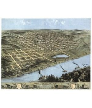 Omaha, Nebraska - Panoramic Map 1968