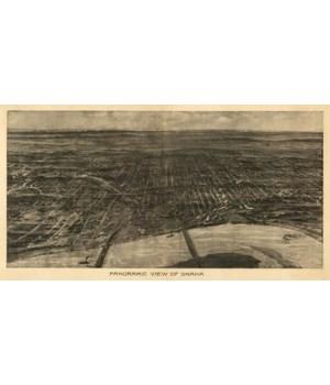 Omaha, Nebraska - Panoramic Map 1905