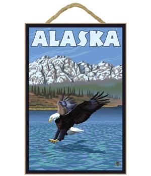 Alaska - Bald Eagle - Lantern Press 7x10