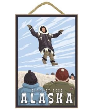 Alaska - Blanket Toss - Lantern Press 7x
