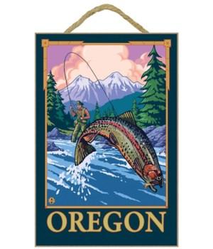 Fly Fishing Scene - Oregon - LP Original