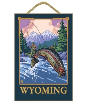 Fly Fishing Scene - Wyoming - LP Origina