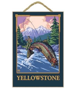 Fly Fishing Scene - Yellowstone National