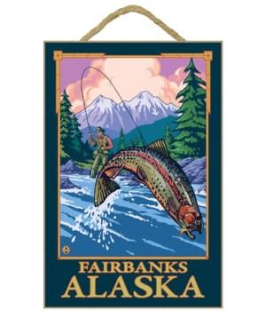 Fly Fishing Scene - Fairbanks, Alaska -