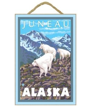 Mountain Goats Scene - Juneau, Alaska -