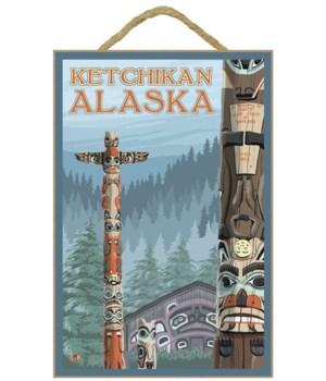 Alaska Totem Poles - Ketchikan, Alaska -