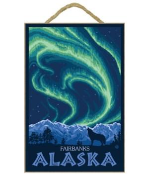 northern Lights - noairbanks, Alaska - L