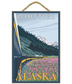 Alaska Railroad Scene - Whittier, Alaska