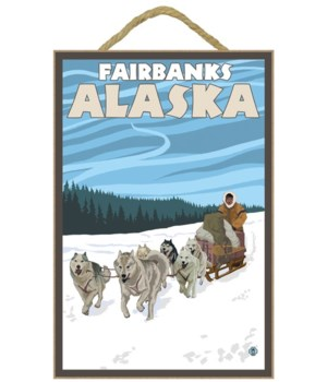 Dog Sledding Scene - Fairbanks, Alaska -