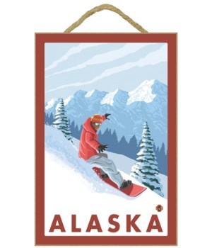 Snowboarder Scene - Alaska - LP Original