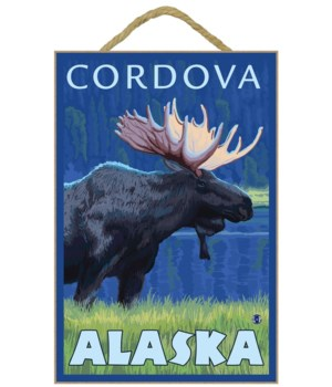 Moose at Night - Cordova, Alaska - LP Or