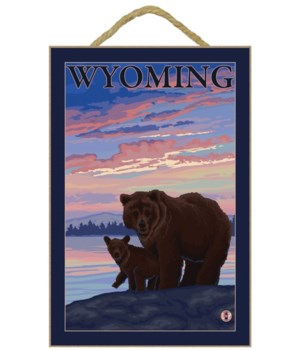 Bear and Cub - Wyoming - LP Original Pos