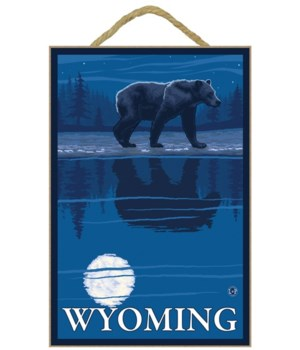 Bear in Moonlight - Wyoming - LP Origina