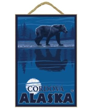 Bear in Moonlight - Cordova, Alaska - LP