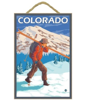 Skier Carrying Skis - Colorado - LP Orig