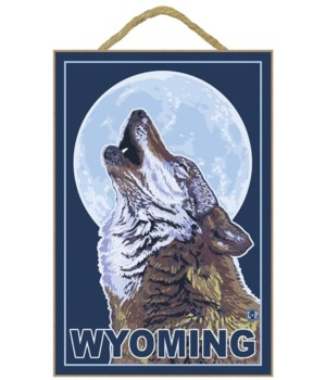 Gray Wolf Howling - Wyoming - LP Origina
