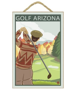 Golfer Scene - Arizona - LP Original Pos