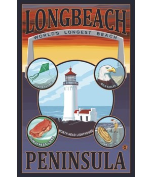 Long Beach, Washington Travel Poster - L
