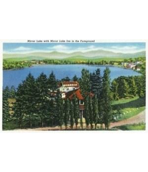 Lake Placid, NY - Mirror Lake 1940