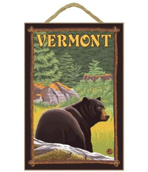 Vermont - Black Bear in Forest - LP Orig