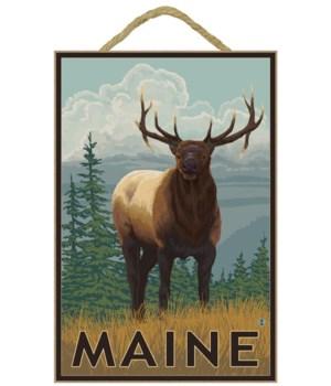 Maine - Elk Scene - LP Original Poster