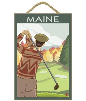 Maine - Golfing Scene - LP Original Post