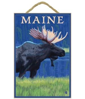 Maine - Moose in the Moonlight - LP Orig