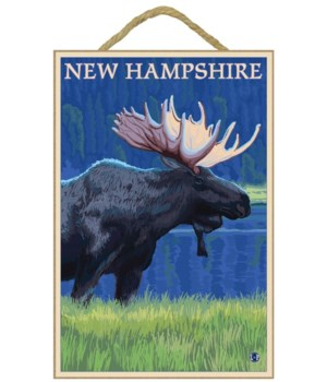 New Hampshire - Moose in the Moonlight -