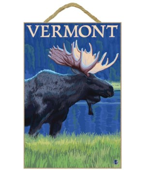 Vermont - Moose in the Moonlight - LP Or