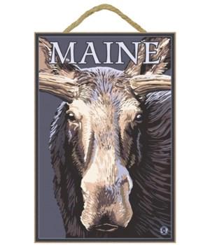 Maine - Moose Up Close - LP Original Pos