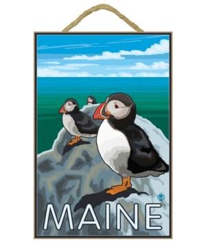 Maine - Puffins Scene - LP Original Post