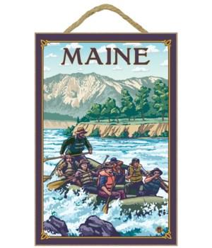 Maine - River Rafting Scene - LP Origina