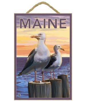 Maine - Sea Gulls Scene - LP Original Po
