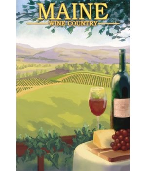 Maine - Wine Country Scene - LP Original