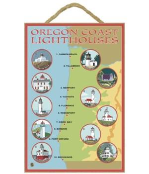 Oregon Coast Lighthouses - Lantern Press