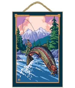 Vale, Oregon - Fisherman Scene - Lantern