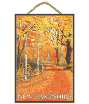 New Hampshire - Fall Colors Scene - Lant