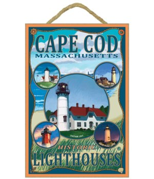 Cape Cod Lighthouses, MA - Lantern Press