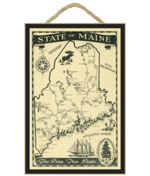 Maine - Highway Map of the Pine Tree Sce