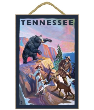Bear Hunter with Dogs - Tennessee - Lant