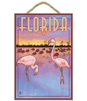 Flamingos - Florida - Lantern Press 7x10