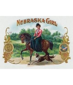 Nebraska Girl Brand Cigar Box Label